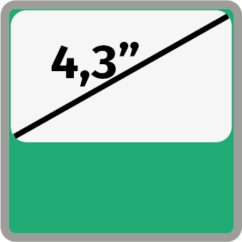 4,3 inches kijelző