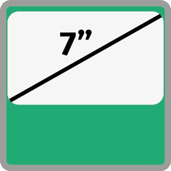 7 inches kijelző