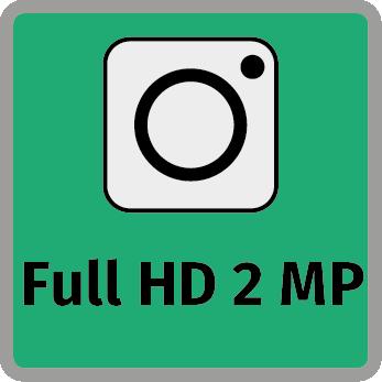 2 megapixeles széles látószögű kamera