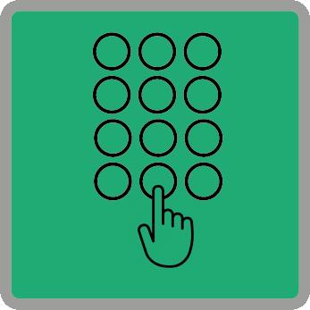 beépített kódzár