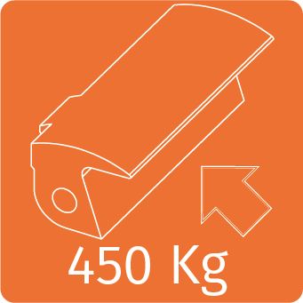 450 kg előfeszítés esetén az ajtó nyitás nélkül is ki fog nyílni.